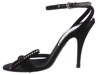 Barbara Bui Embellished Suede Sandals