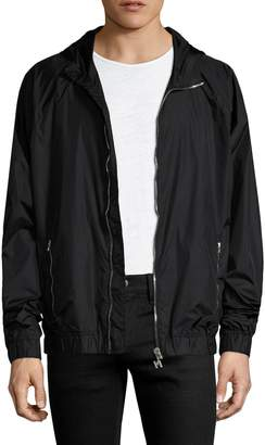 MSGM Men's Elasticized Hooded Jacket