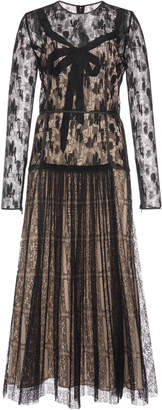 Bottega Veneta Camouflage Lace Midi Dress