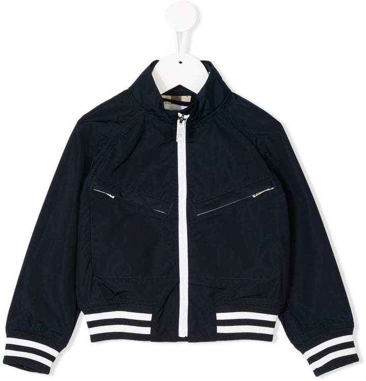 branded bomber jacket