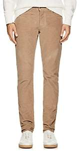 Isaia Men's Cotton Corduroy Slim Trousers-Beige, Tan