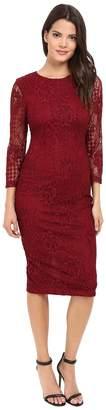 Jessica Simpson Floral Lace Midi Dress Women's Dress