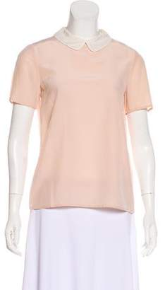 Marc by Marc Jacobs Silk Short Sleeve Top