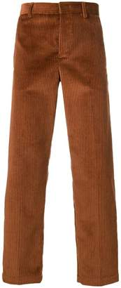 MSGM corduroy regular-fit trousers