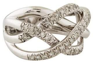 Ring 14K Diamond Criss Cross Band
