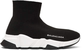 Balenciaga Black Speed Runners High-Top Sneakers