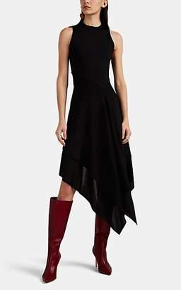 Victoria Beckham Women's Compact-Knit Asymmetric Fit & Flare Dress - Black