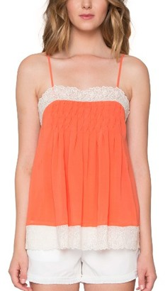 Women's Willow & Clay Lace Trim Camisole $79 thestylecure.com