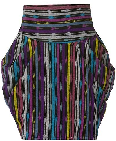 Rojas Drape Skirt in Indigenous