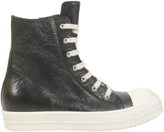 Rick Owens Destroyed Leather High-top Sneakers