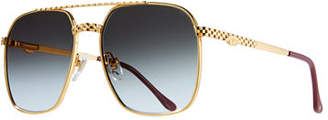Vintage Frames Company Men's Masterpiece XL Gold-Plated Sunglasses