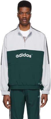 adidas Grey and Green Archive Track Jacket