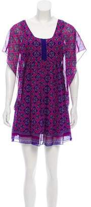 Anna Sui Silk Printed Dress