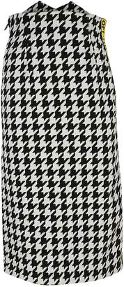 Off-White Taped Houndstooth Midi Skirt