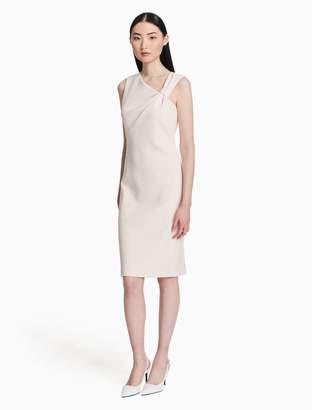 Calvin Klein asymmetric neck sheath dress