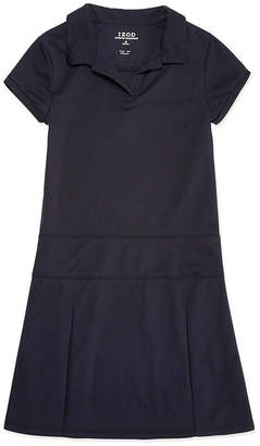 Izod EXCLUSIVE Exclusive Short Sleeve Fitted Shirt Dress 4-16 and Plus
