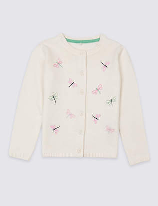Marks and Spencer Dragonflies Knitted Cardigan (3 Months - 7 Years)