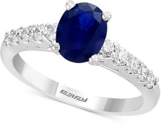 Effy Gemstone Bridal by Sapphire (1-3/8 ct. t.w.) & Diamond (3/8 ct. t.w.) Engagement Ring in 18k White Gold