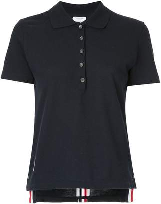 Thom Browne stripe-trim polo top