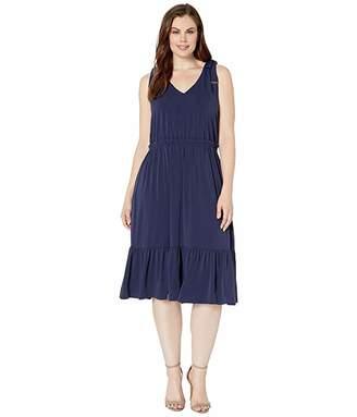 MICHAEL Michael Kors Size Tie Shoulder Midi Dress