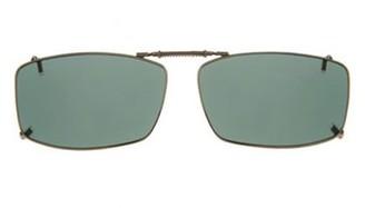 SOLAR SHIELD Solar Shield Unisex Gunmetal Polarized Solarshield Clipon Sunglasses Sd14