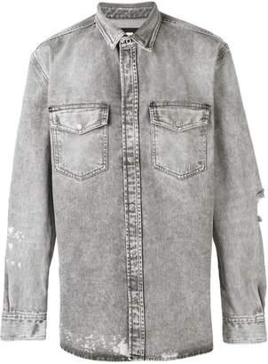 Diesel distressed long-sleeved shirt