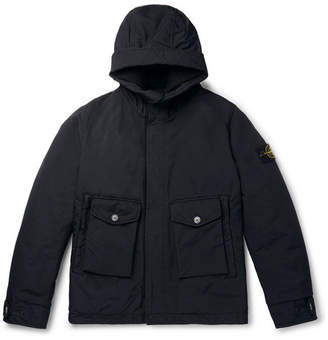 Stone Island David-Tc Garment-Dyed Coated-Canvas Primaloft Hooded Jacket