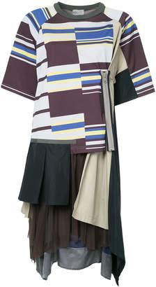Kolor layered T-shirt dress