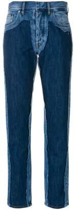 Maison Margiela high-waist contrast jeans