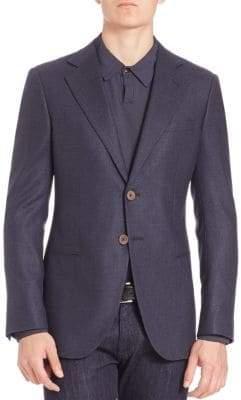 Armani Collezioni Woven Textured Sportscoat