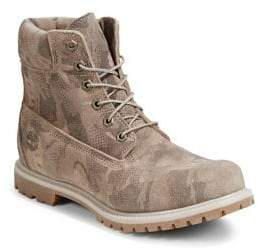 Timberland Camouflage Waterproof Suede Hiking Boots