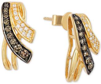 LeVian Le Vian Chocolatier Diamond Drop Earrings (1/3 ct. t.w.) in 14k Gold