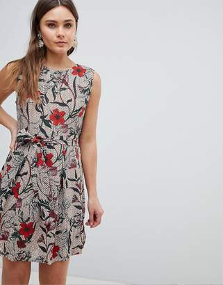 Yumi Antique Floral Pleated Dress