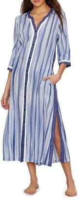 DKNY Donna Karan Woven Maxi Gown, L