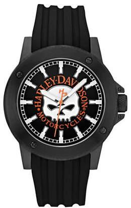 Harley-Davidson Analog Willie G Skull Collection Band Watch
