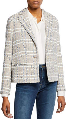 Kiton Striped Tweed Jacket