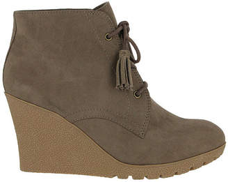 MIA GIRL Mia Girl Womens Bayly Lace Up Boots Wedge Heel Lace-up