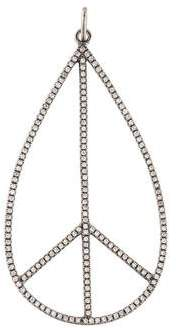 Sydney Evan 14K Diamond Teardrop Peace Sign Pendant