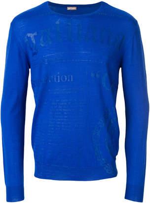 John Galliano logo print jumper