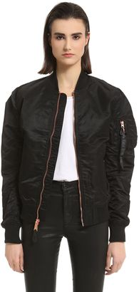 Slim Fit Nylon Bomber Jacket $193 thestylecure.com