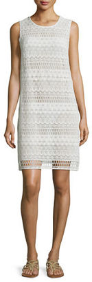Gottex Pearl Goddess Crochet Coverup Dress $198 thestylecure.com