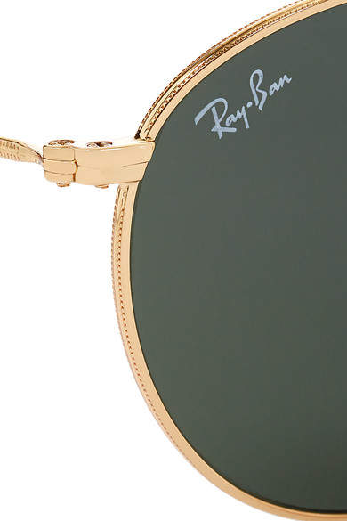 Ray-Ban - Round-frame Gold-tone Sunglasses - one size 3