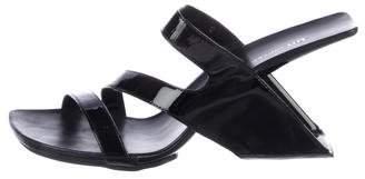 United Nude Patent Leather Slide Sandals