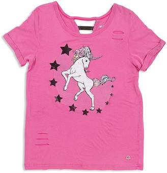 Butter Shoes Girls' Distressed Unicorn Tee