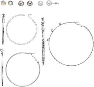 Mudd Set of 6 Hoop & Stud Earrings