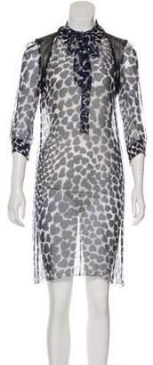 Prada Sheer Silk Dress
