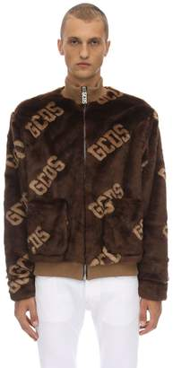 GCDS New Fur Coach Acrylic Blend Jacket