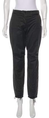 CNC Costume National Wax-Coated High-Rise Pants