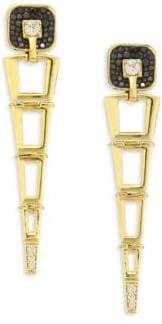 Black Diamond Pleve Opus Black Diamond& 18K Yellow Gold Egyptian Drop Earrings