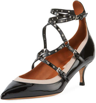 Valentino Shiny Patent Pumps with Grommets